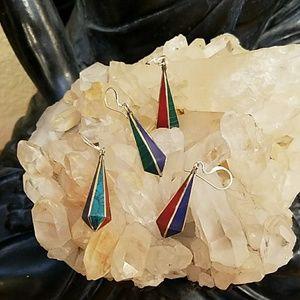 Tibetan Inlayed Earrings